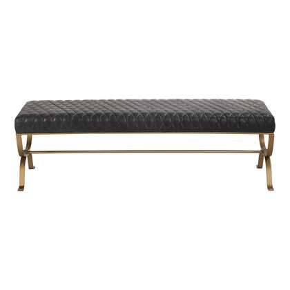 Teatro Collection PK-1109-02 Bench with Iron Frame in Black