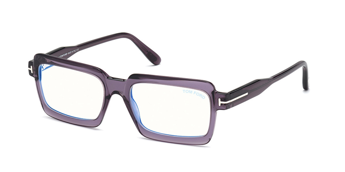Tom Ford FT5711-B Blue-Light Block 081 Women's Glasses Violet Size 54 - Free Lenses - HSA/FSA Insurance - Blue Light Block Available