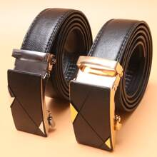 2pcs Men Metal Buckle Belt