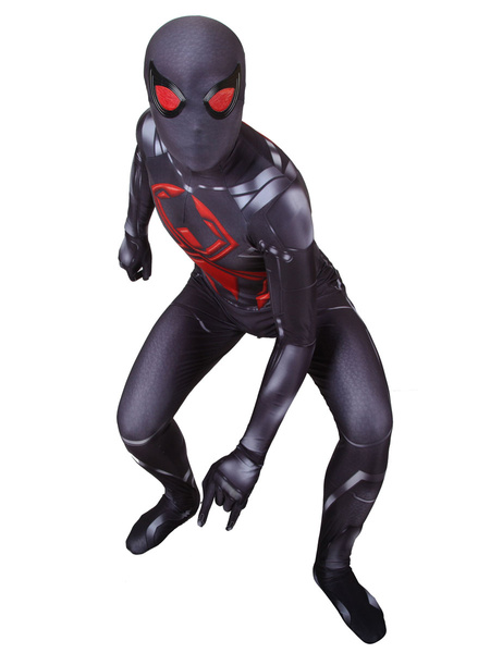 Milanoo Halloween Carnaval Dark Spider Man Cosplay Mono 3D Traje de impresion