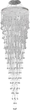 V2006G36C/RC 2006 Galaxy Collection Chandelier D:36In H:120In Lt:16 Chrome Finish (Royal Cut