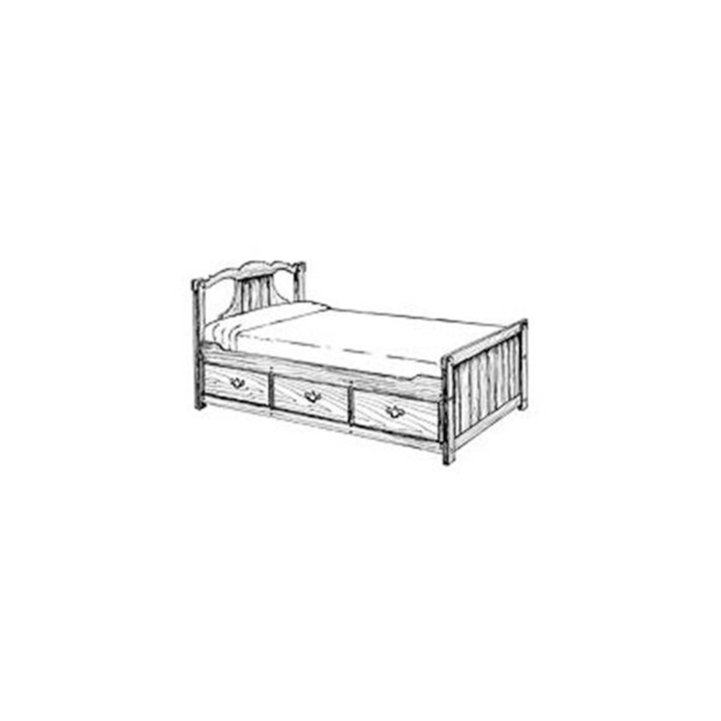 Woodworking Project Paper Plan to Build Captain's Bed