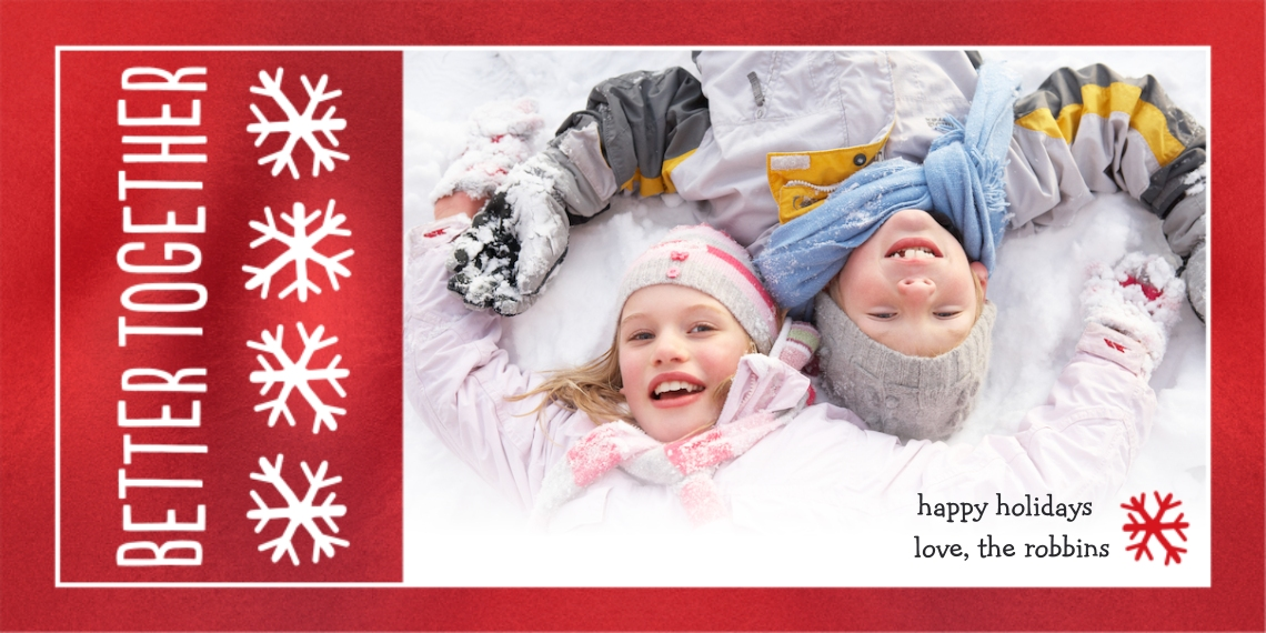 Christmas Photo Cards 4x8 Flat Card Set, 85lb, Card & Stationery -Better Together