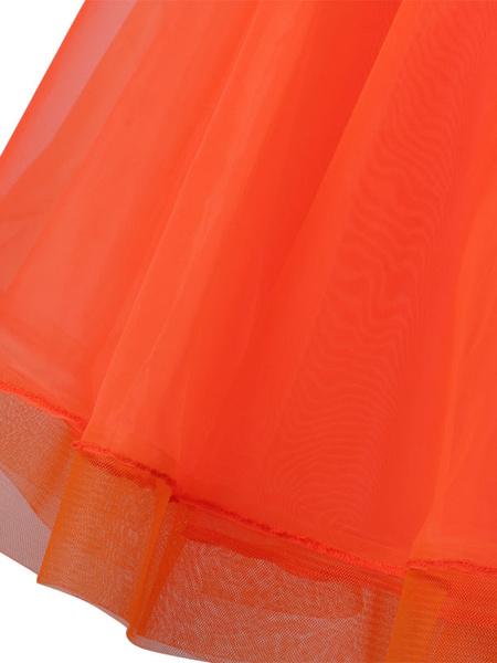Milanoo Ballroom Dance Costumes Ruffle Beaded Dress Women Dance Dress