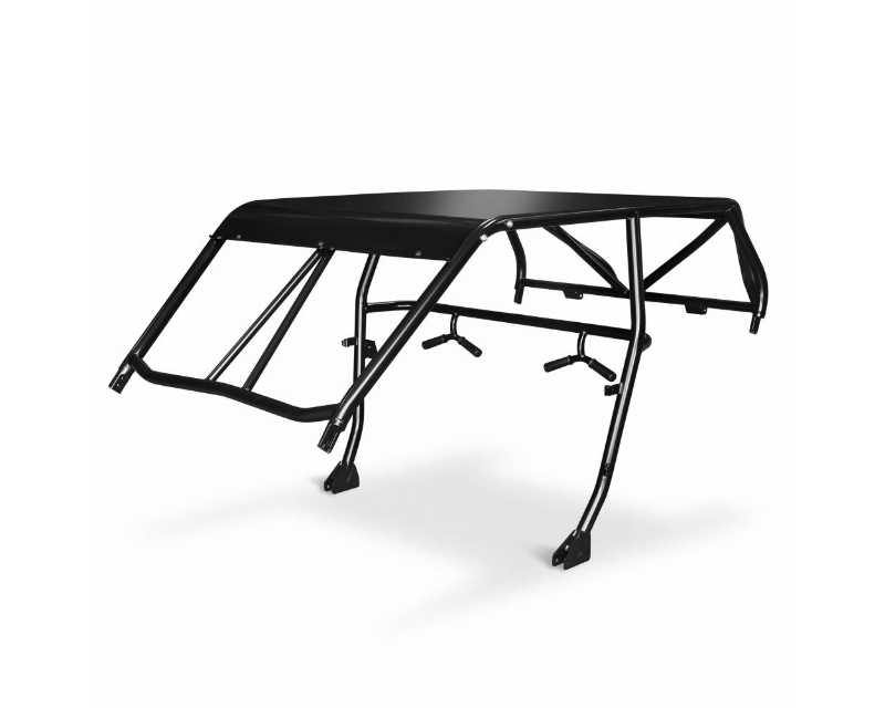 Cognito RZR 4 Seat Recreation Roll Cage Windshield Intrusion Bars Black For 14-18 Polaris RZR XP