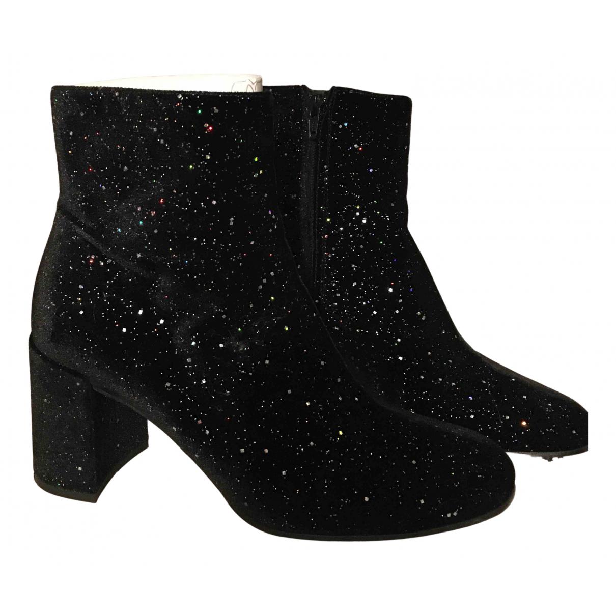 Free Lance - Boots   pour femme en velours - multicolore