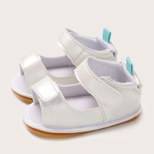 Baby Girl Open Toe Velcro Strap Sandals