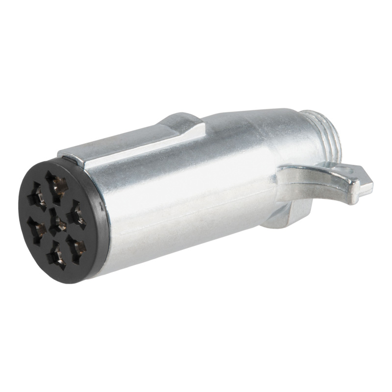 Curt 58161 7-Way Round Connector Plug (Trailer Side, Packaged)