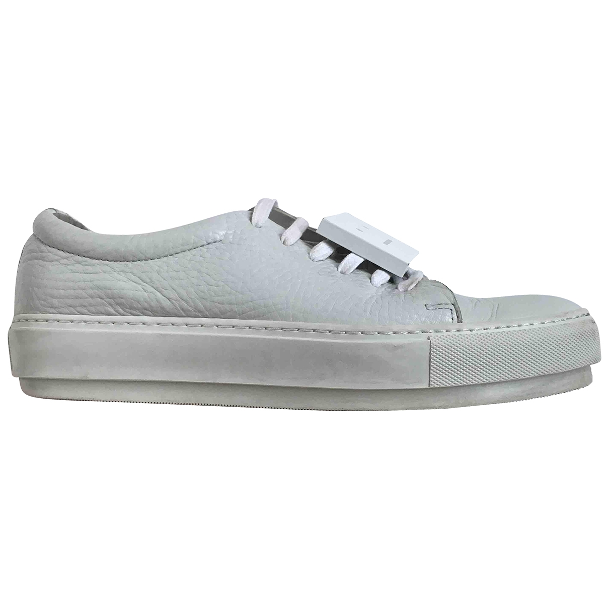 Acne Studios \N White Leather Trainers for Women 41 EU