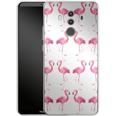 Huawei Mate 10 Pro Silikon Handyhuelle - Flamingo Print von Becky Starsmore
