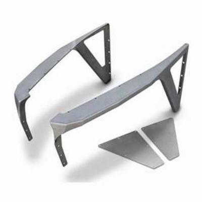Poison Spyder DeFender XC High-Line Negative Fenders (Bare Steel) - 14-02-090