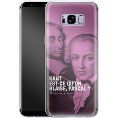 Samsung Galaxy S8 Plus Silikon Handyhuelle - Kant Blaise Et Pascal von Fists Et Lettres
