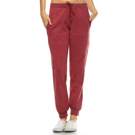 White Mark Amazingly Soft Womens Mid Rise Jogger Pant, X-large , Red