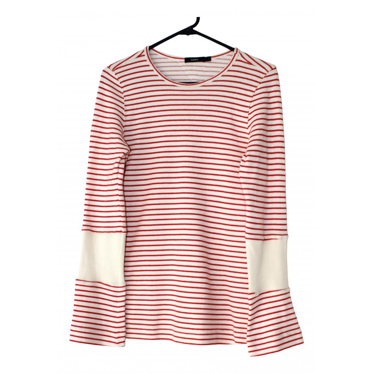 Bassike - Top   pour femme en coton - rouge