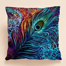 Feather Print Cushion Cover Without Filler