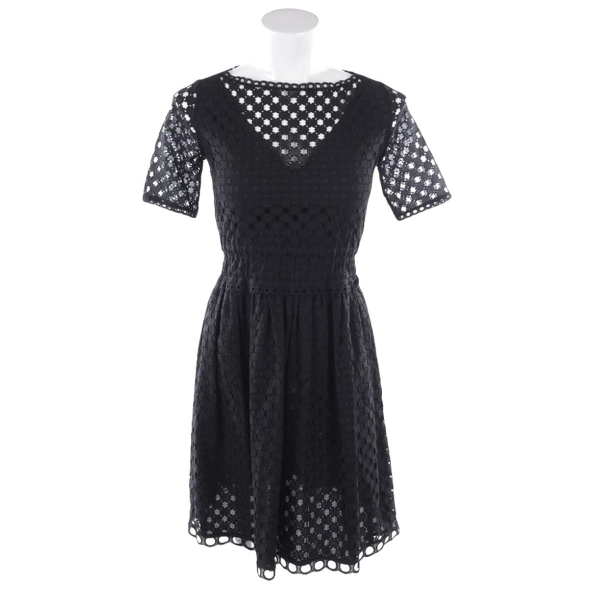 Carven \N Kleid in  Schwarz Baumwolle