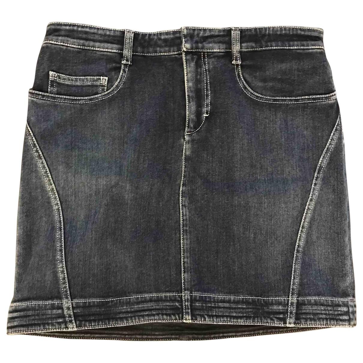 Louis Vuitton \N Navy Denim - Jeans skirt for Women 42 FR