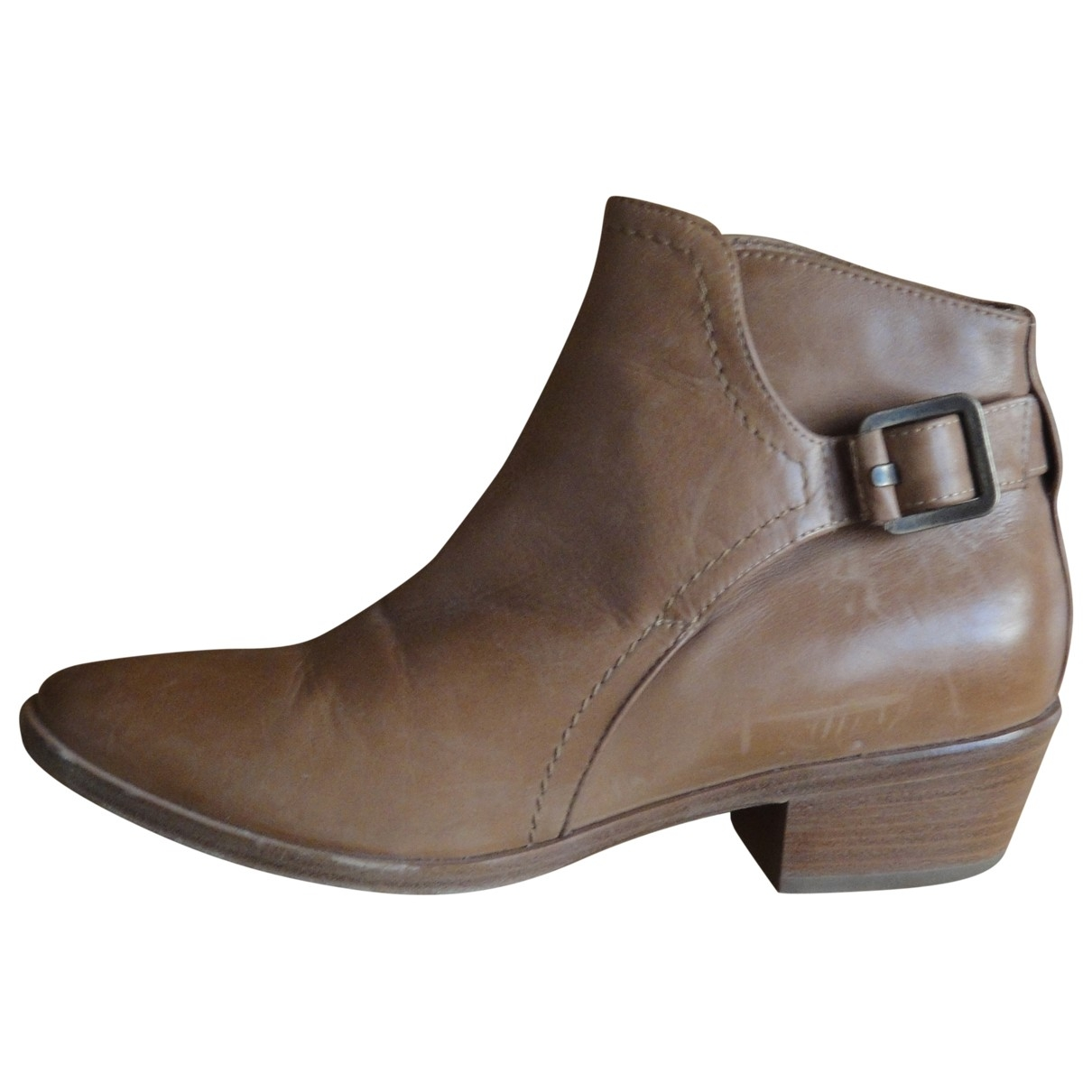 Colisée De Sacha \N Camel Leather Ankle boots for Women 37 EU
