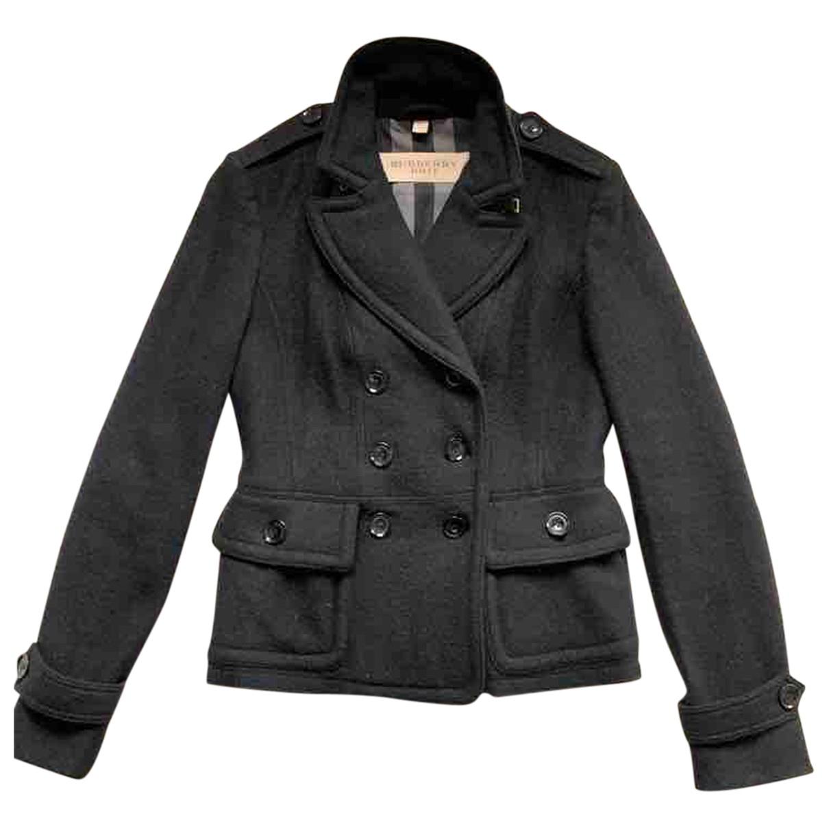 Burberry N Black Wool coat for Women 40 IT