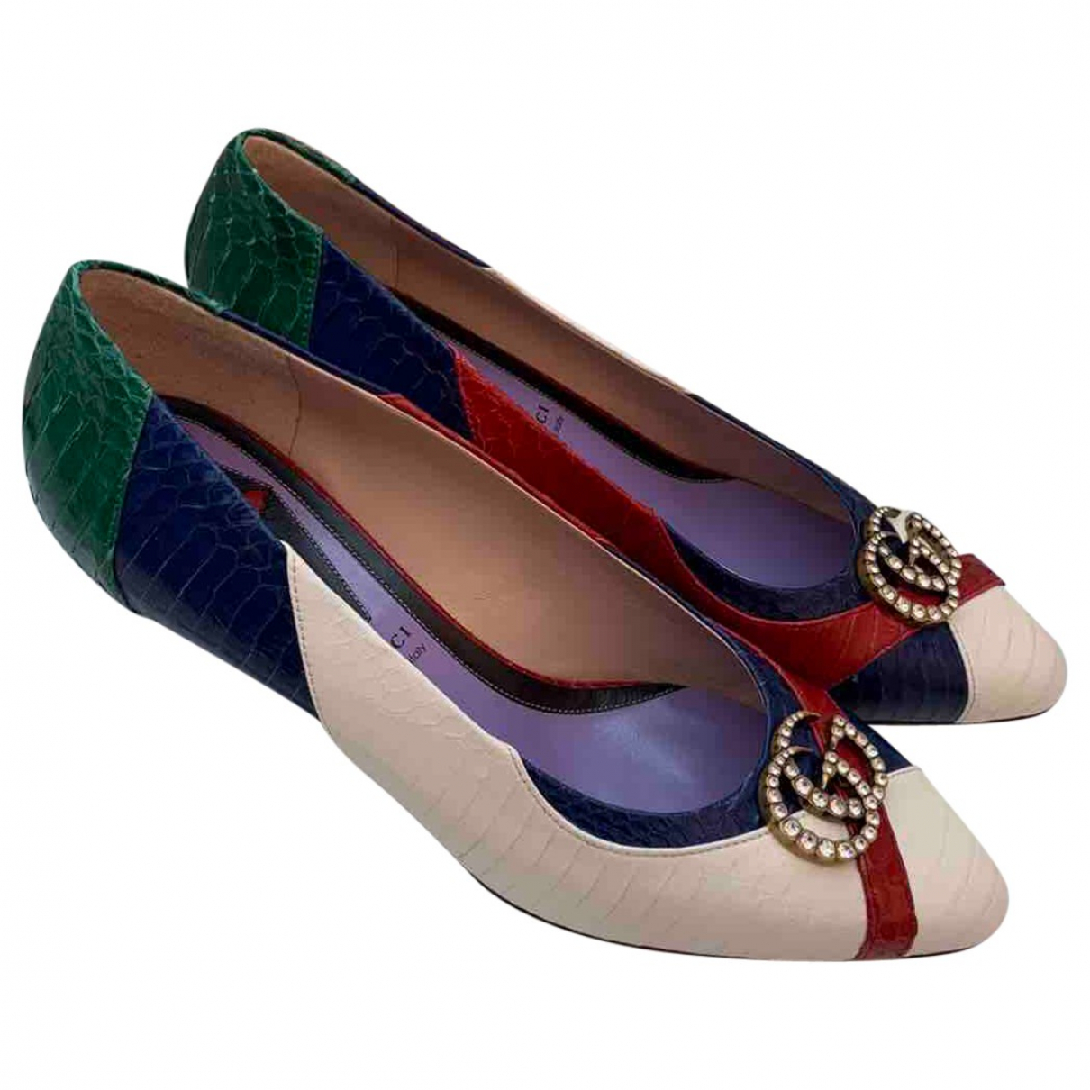Gucci \N Multicolour Python Heels for Women 40 EU