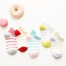5pairs Toddler Kids Color Block Striped Pattern Socks