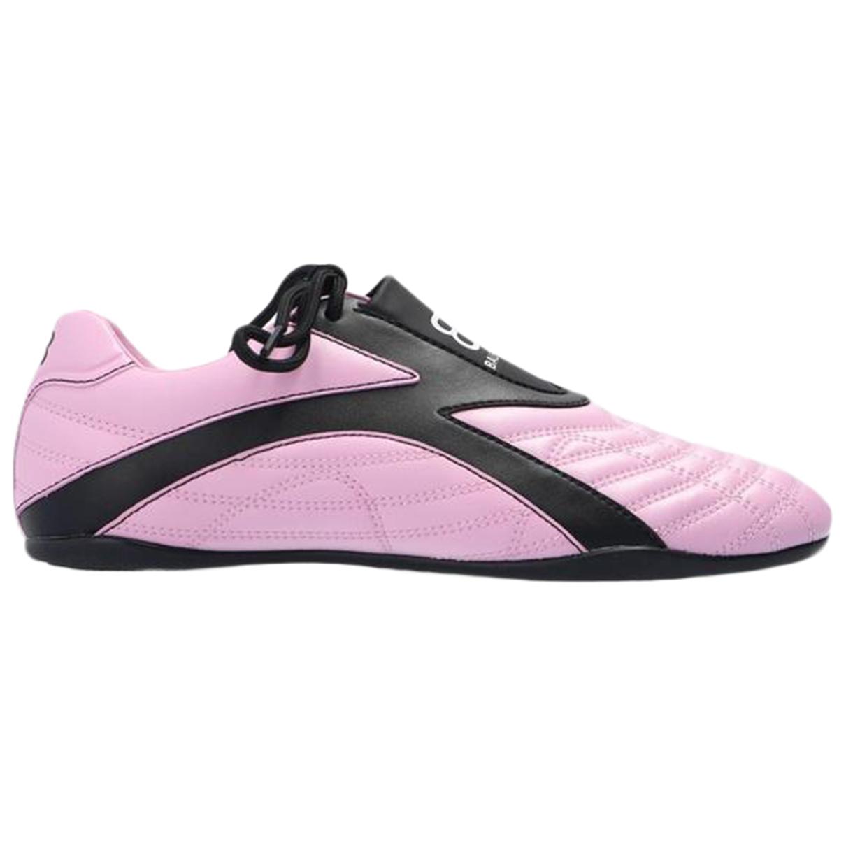 Balenciaga - Baskets   pour femme en cuir - rose