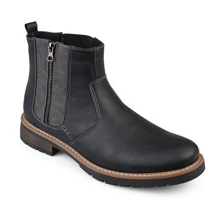 Vance Co Mens Pratt Chelsea Boots, 12 Medium, Black
