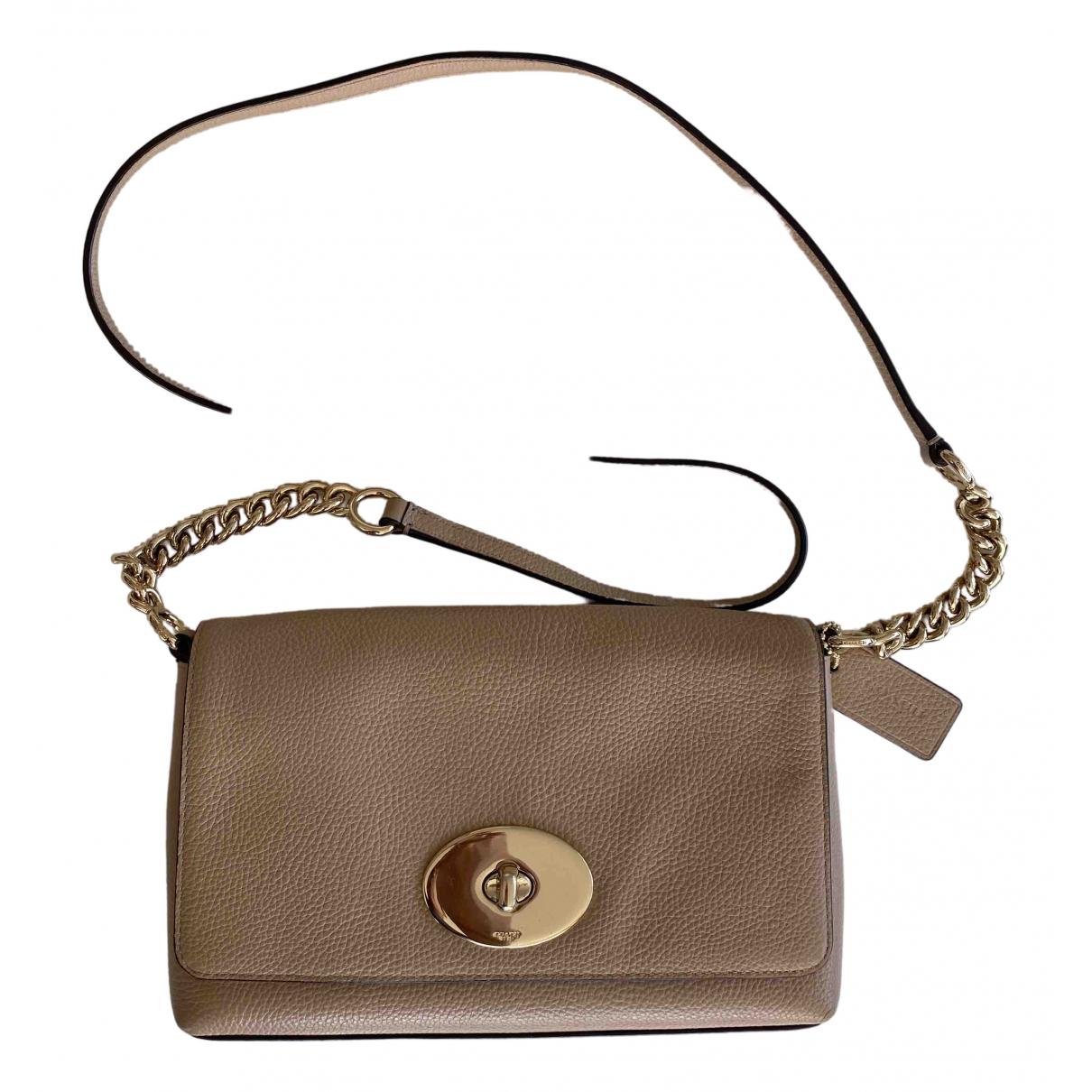 Coach Glovetan Dinky Crossbody Beige Leather handbag for Women \N