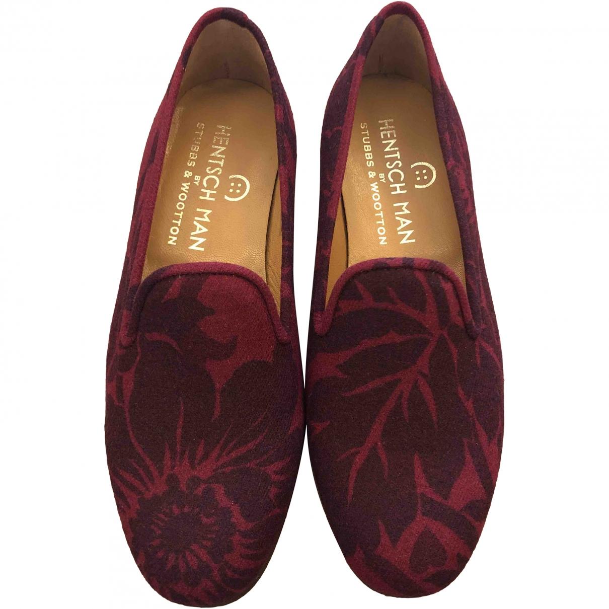 Stubbs & Wootton \N Burgundy Cloth Flats for Men 43 EU