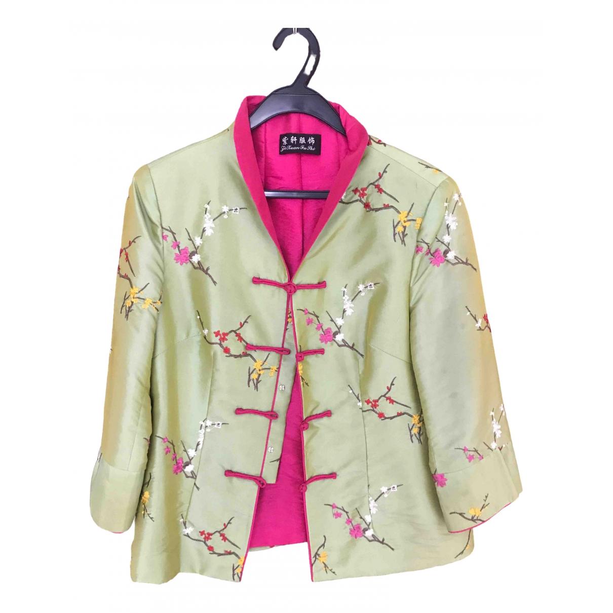 - Veste   pour femme en soie - multicolore