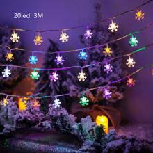 1pc 3m String Light With 20pcs Snowflake Bulb
