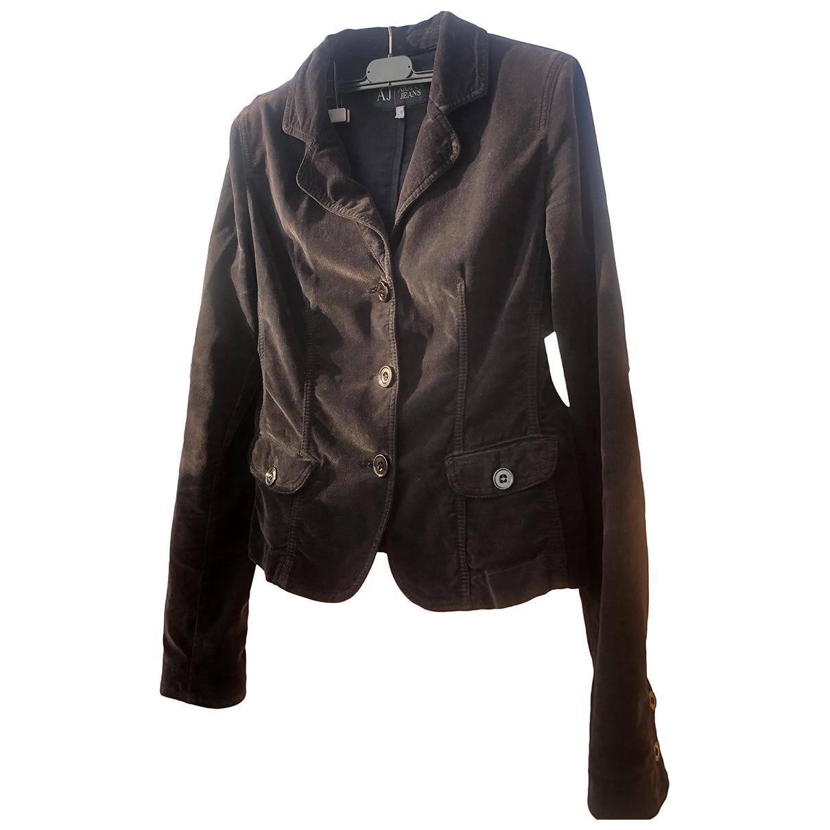 Armani Jeans \N Jacke in  Schwarz Baumwolle