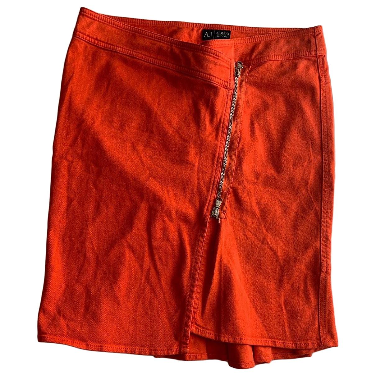 Armani Jeans \N Rocke in  Orange Baumwolle