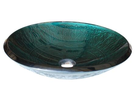 EB_GS03 Teal Glass Vessel Sink With Embossed