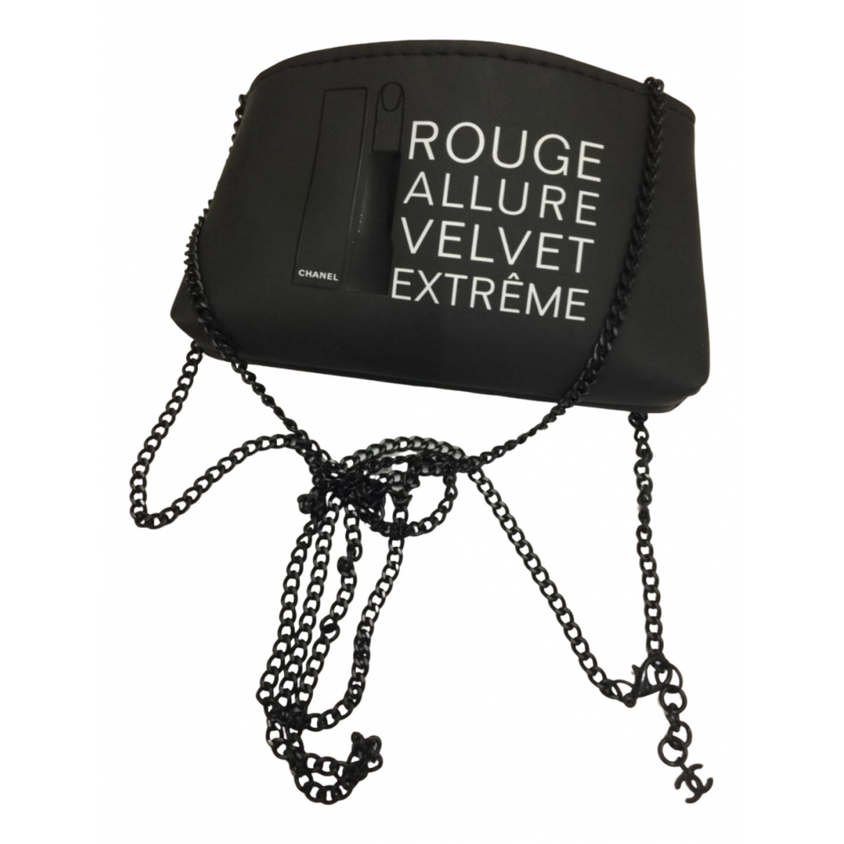 Bolsos clutch Mademoiselle en Poliester Negro Chanel