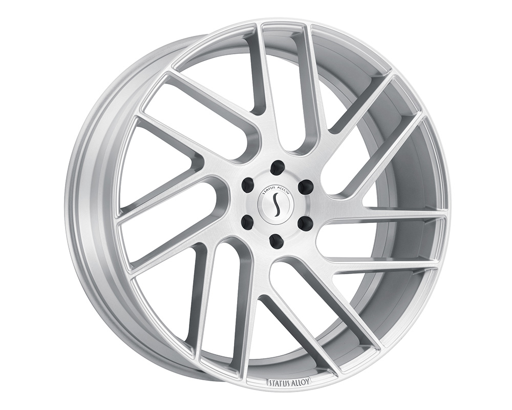 Status Juggernaut Wheel 20x9  5x114.3 30mm Silver w/ Brushed Face