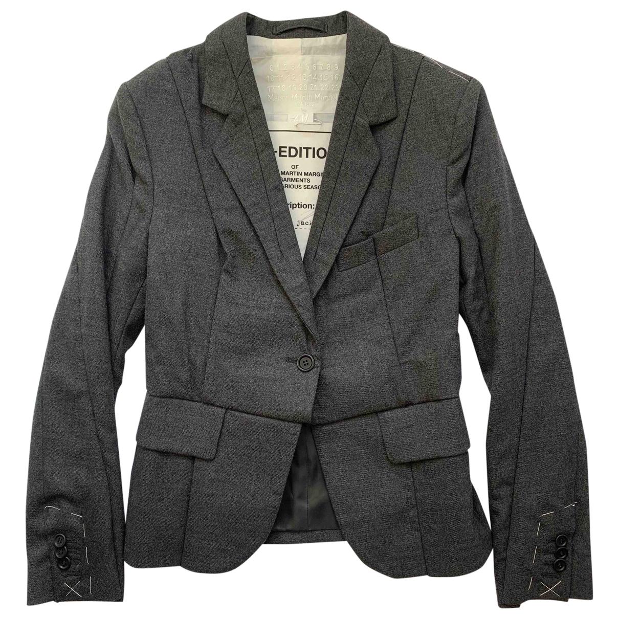 Maison Martin Margiela Pour H&m - Veste   pour femme en laine - gris