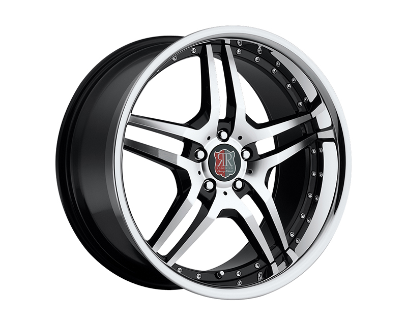 MRR Design Black Machined Lip RW2 Wheel 18x8