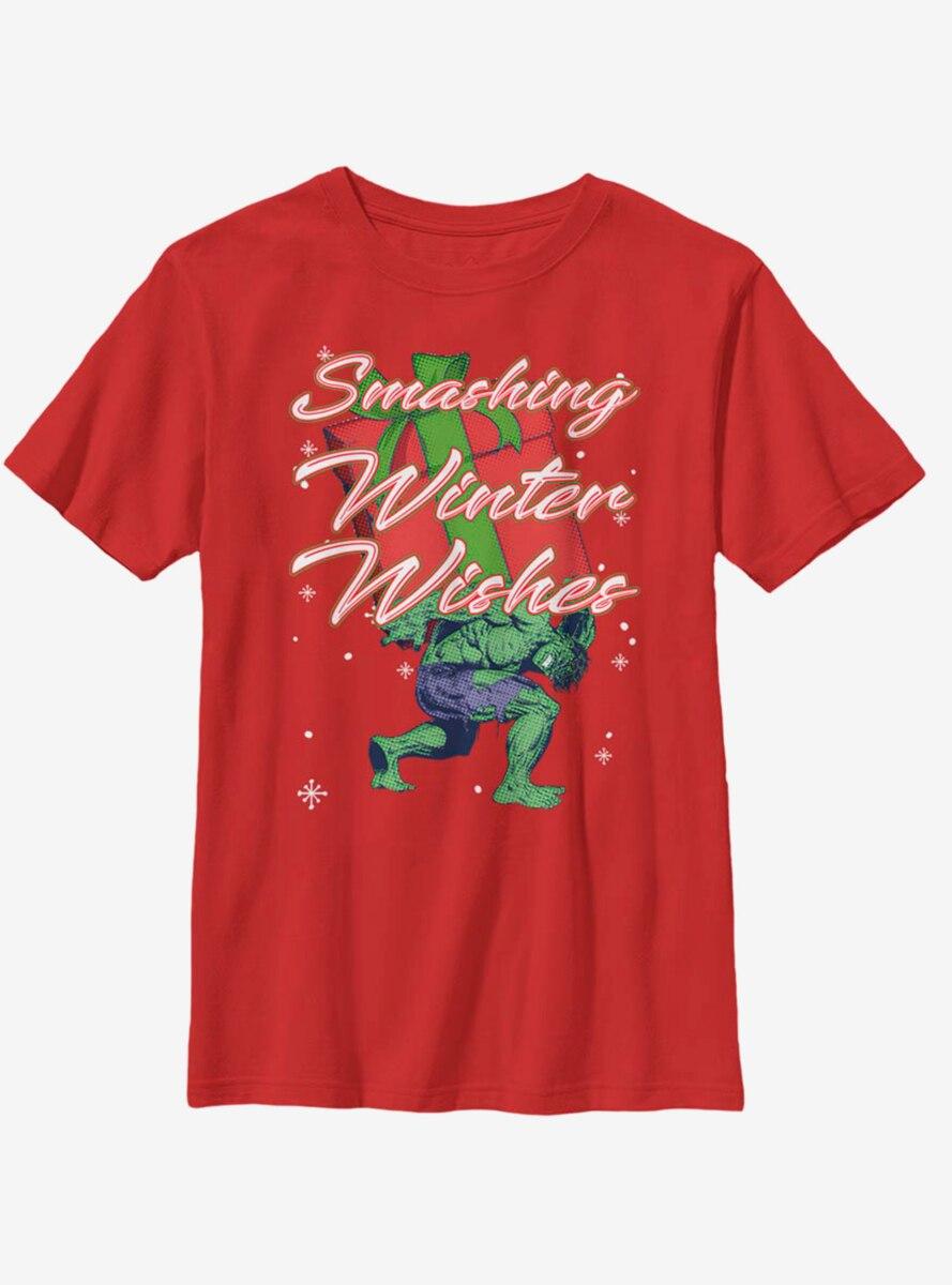 Marvel Hulk Smashing Winter Youth T-Shirt