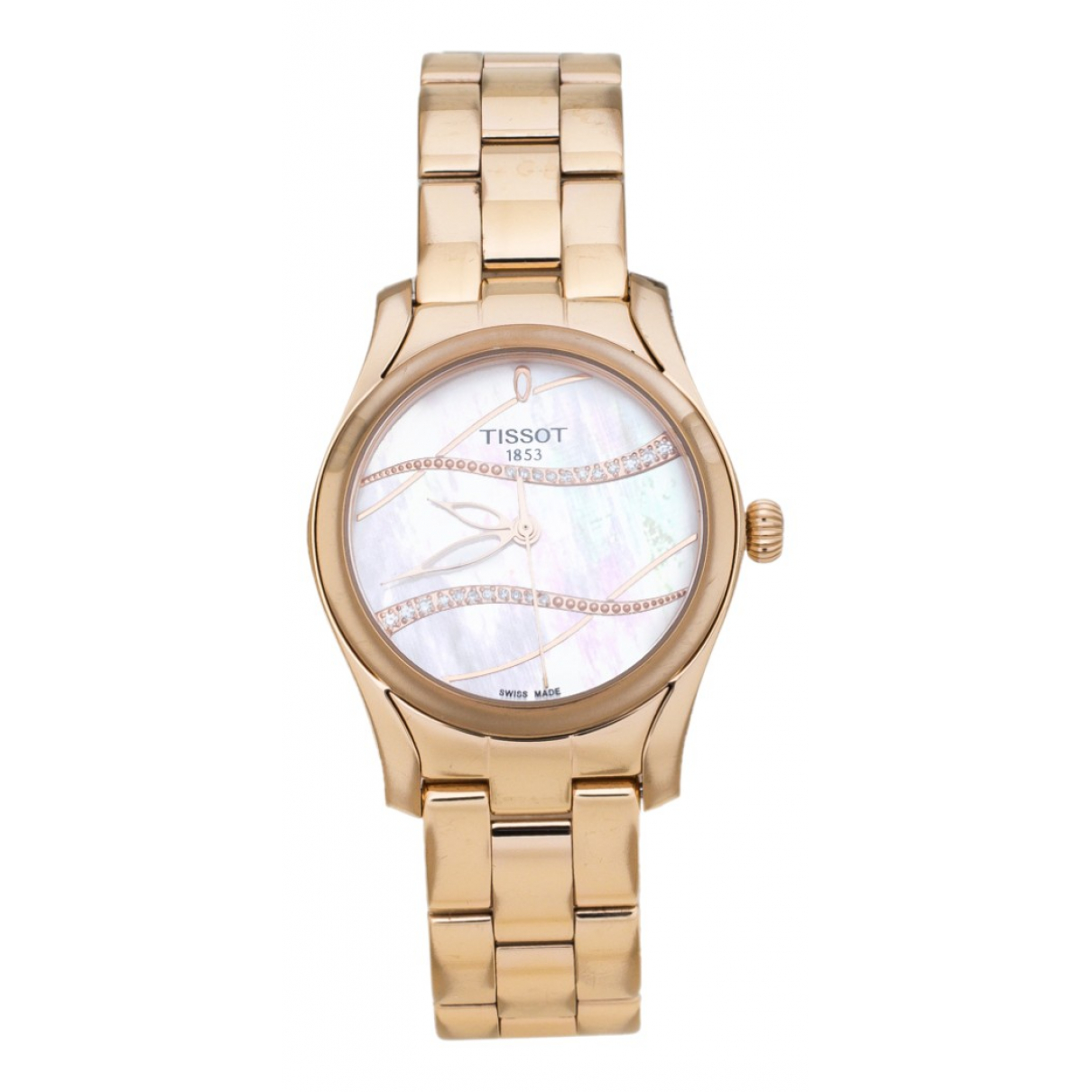 Tissot - Montre   pour femme en plaque or - dore