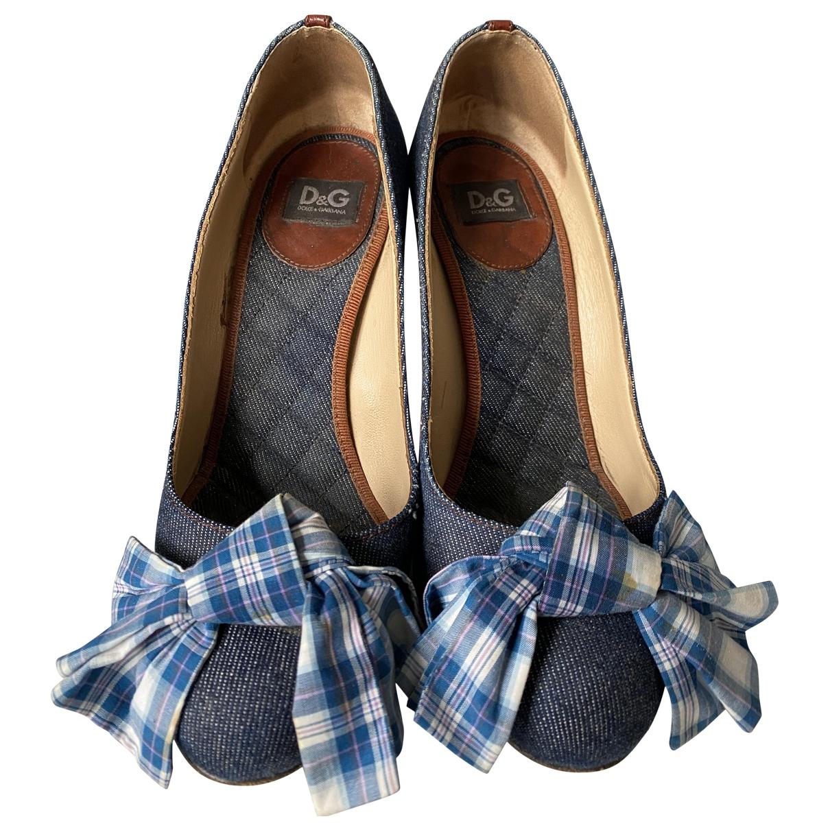 D&g \N Blue Cloth Heels for Women 36 EU