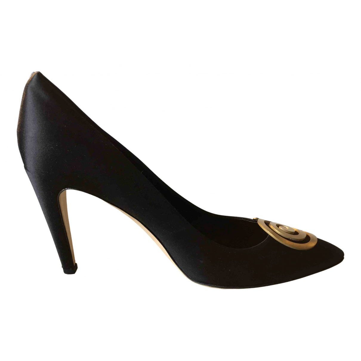 Tibi \N Pumps in  Schwarz Leinen