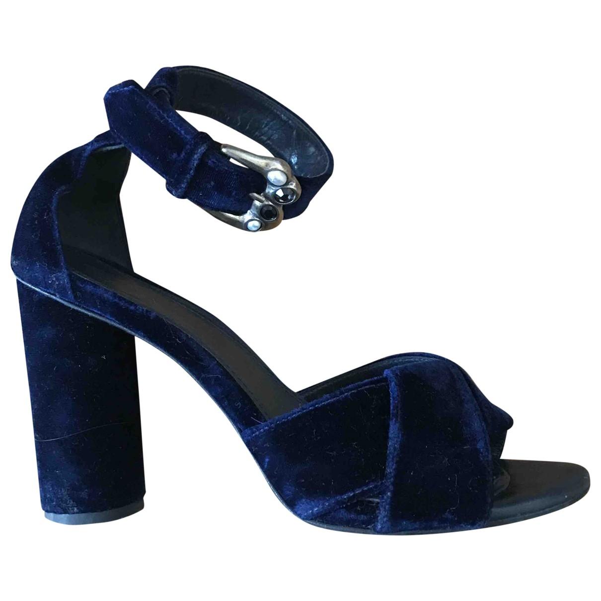 Maje \N Blue Velvet Sandals for Women 38 EU