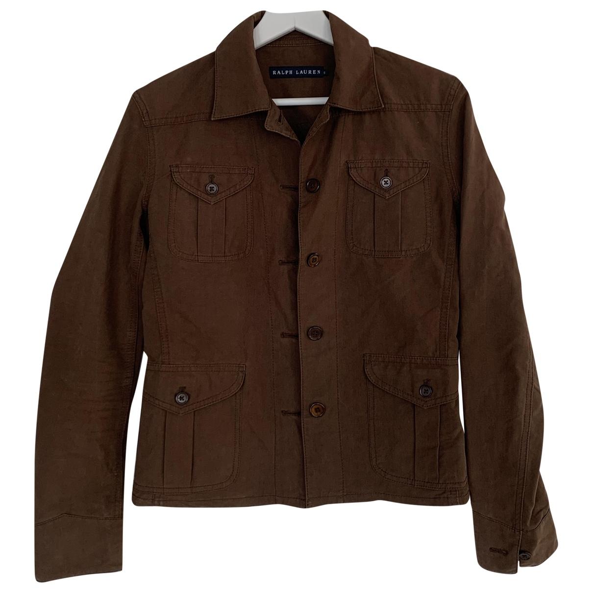 Ralph Lauren - Veste   pour femme en coton - marron