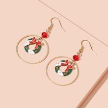 Christmas Wreath Drop Earrings