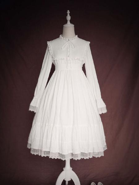 Milanoo Classic Lolita OP Dress Ruffles Long Sleeves Lolita One Piece Dresses