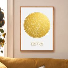 Constellation Print Wall Print Without Frame