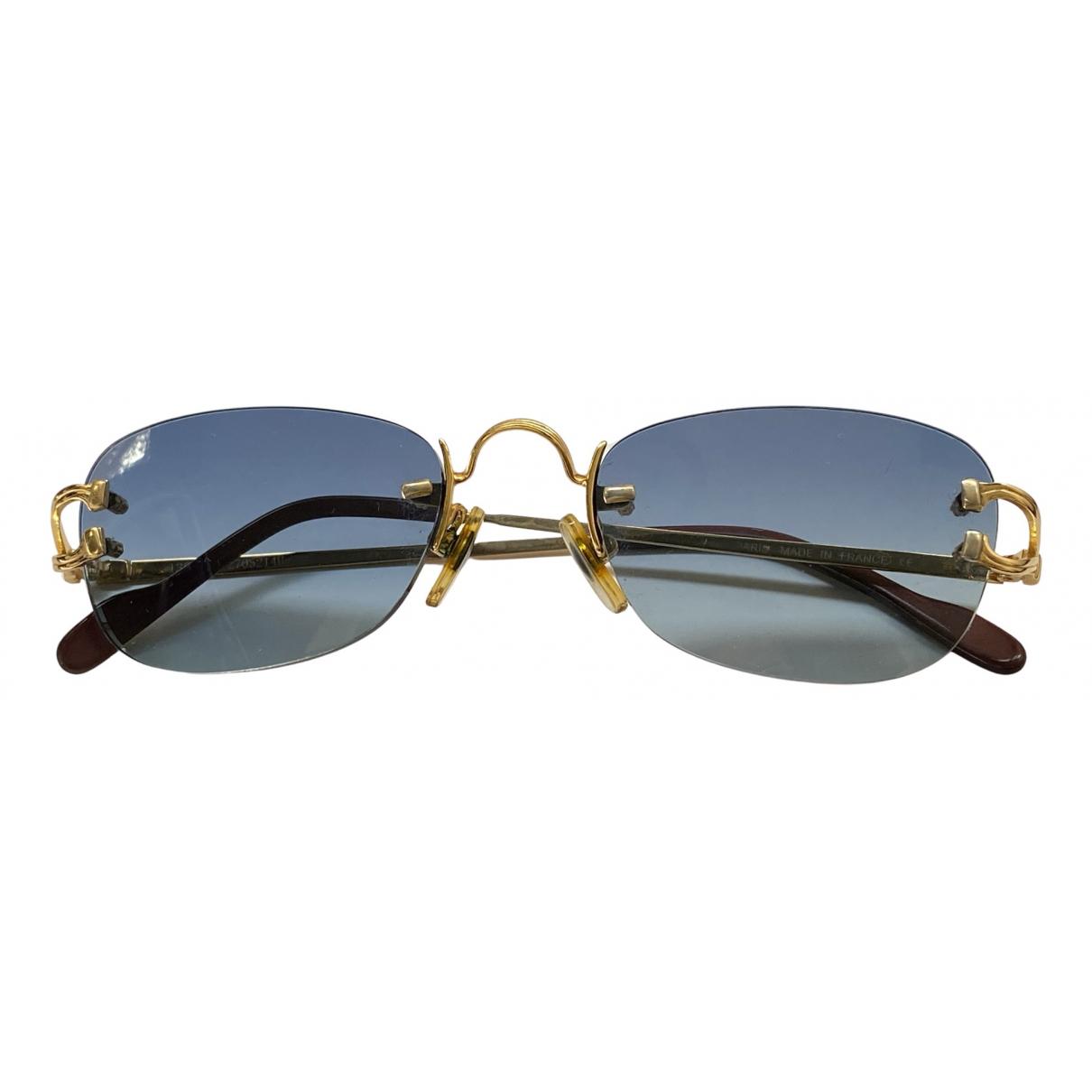 Cartier - Lunettes   pour homme en metal - dore