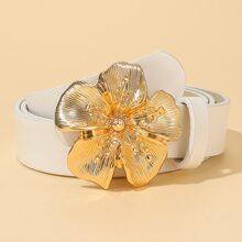 Metal Flower Buckle Belt
