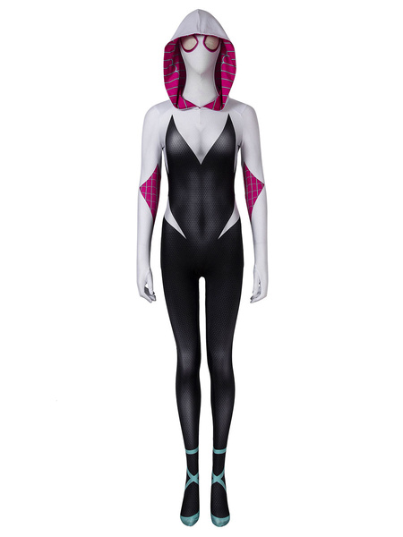 Milanoo Marvel Comics Spider Man Into The Spider Verse Gwen Stacy Catsuits Marvel Comics Cosplay Costume